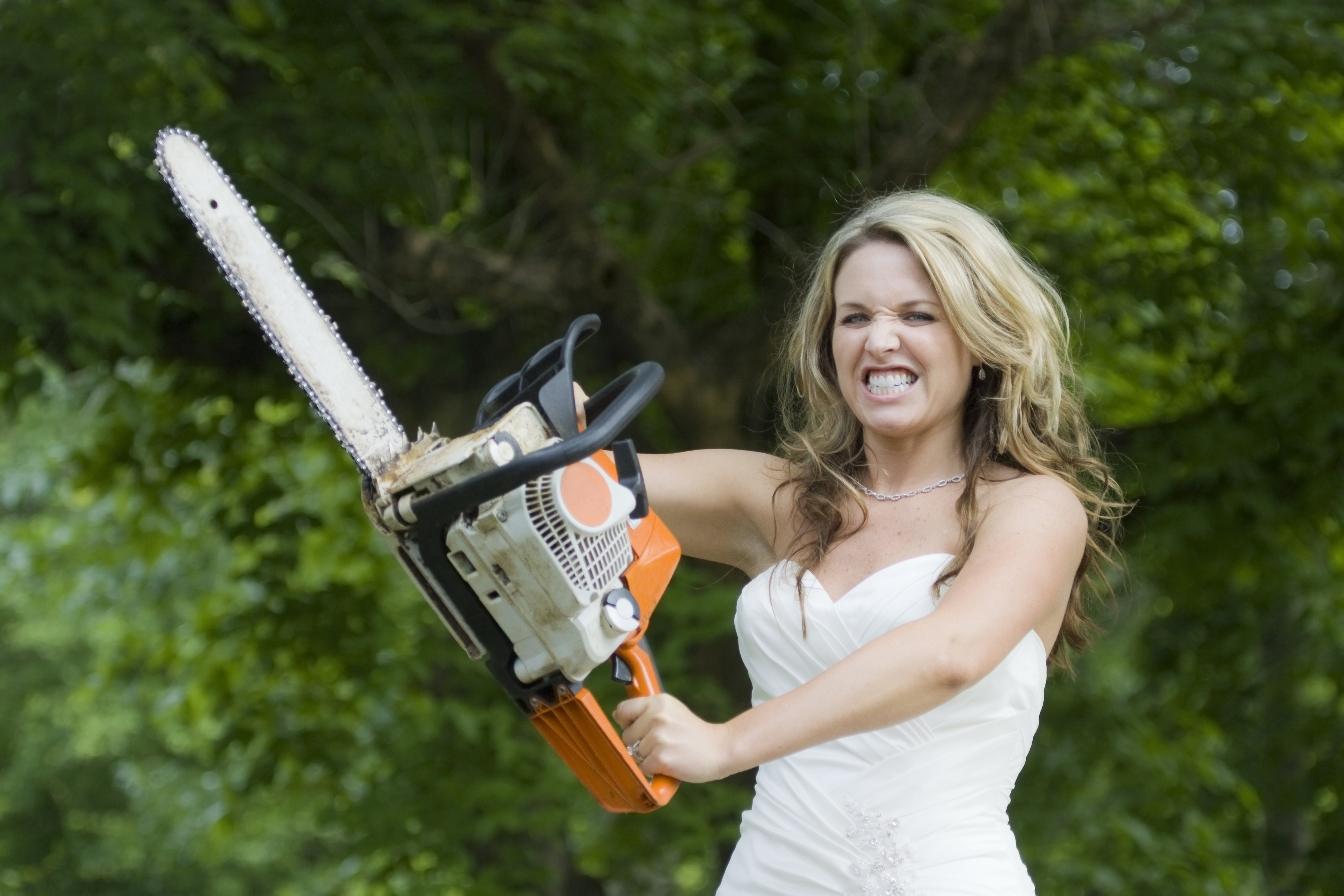Angry Bride with Chainsaw