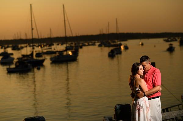 Northport Harbor Engagement Photo | Lotus Wedding Photography