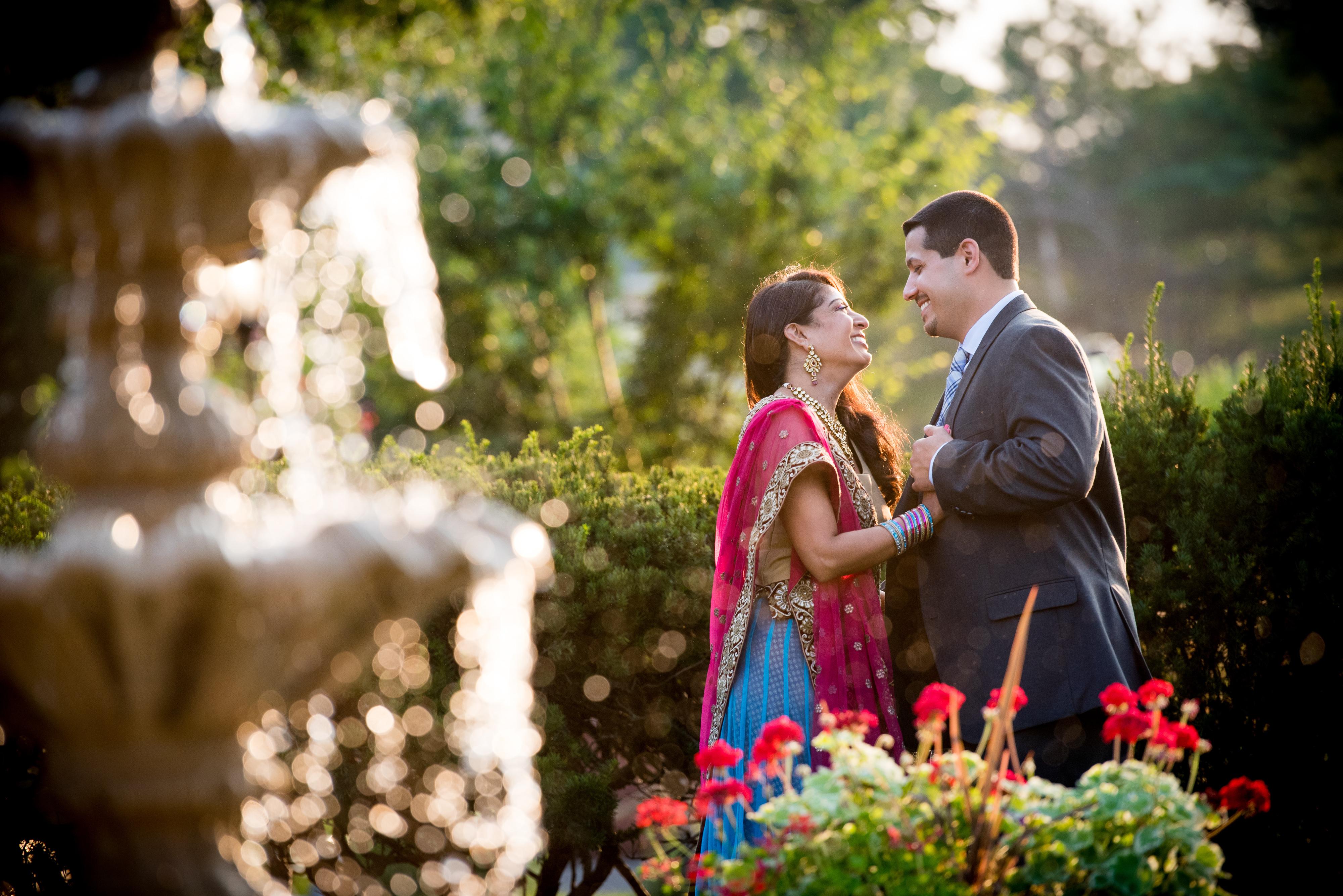 Indian Couple at Westbury Manor | Lotus Wedding Photography