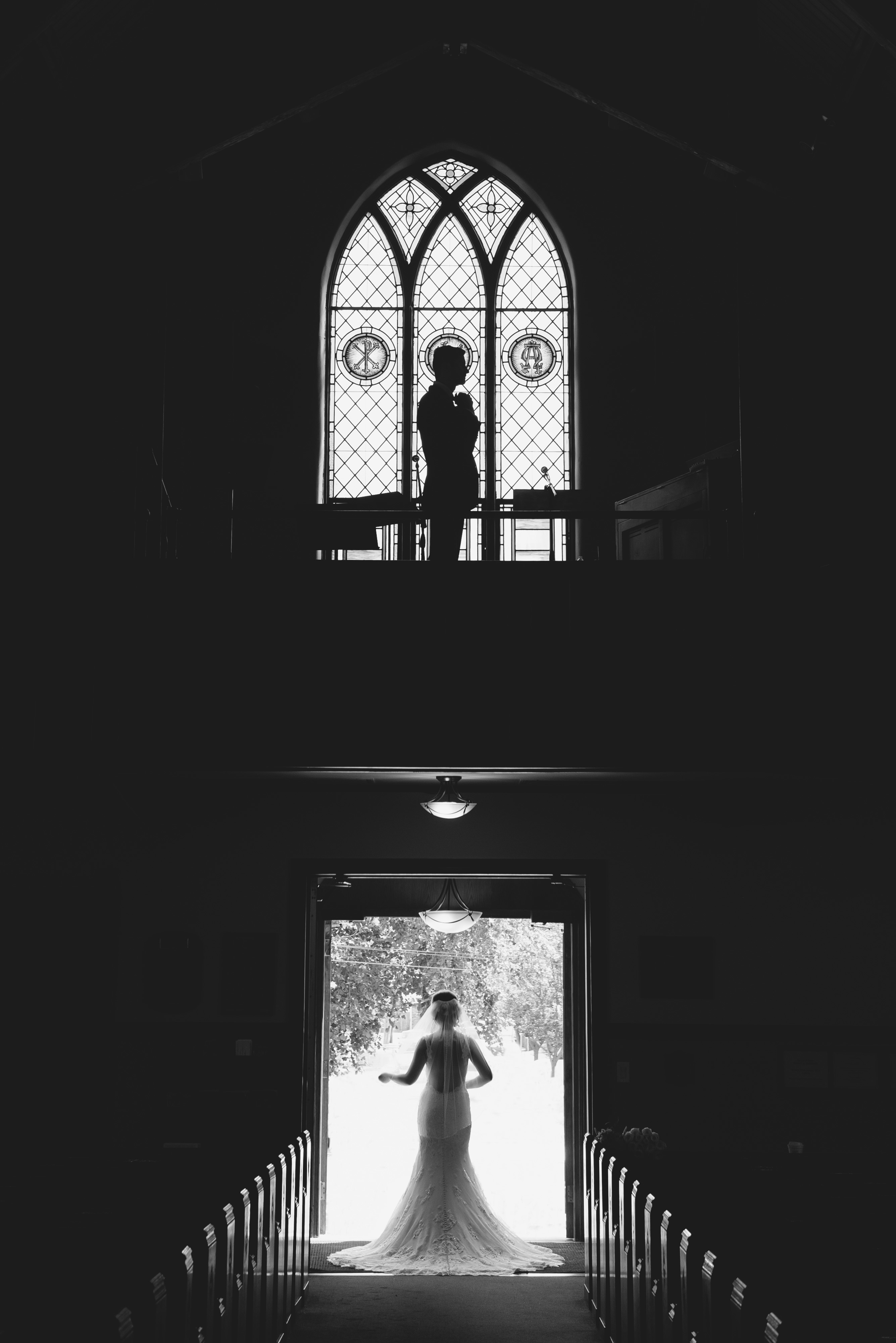 Black and white church wedding photography | Lotus Wedding Photography