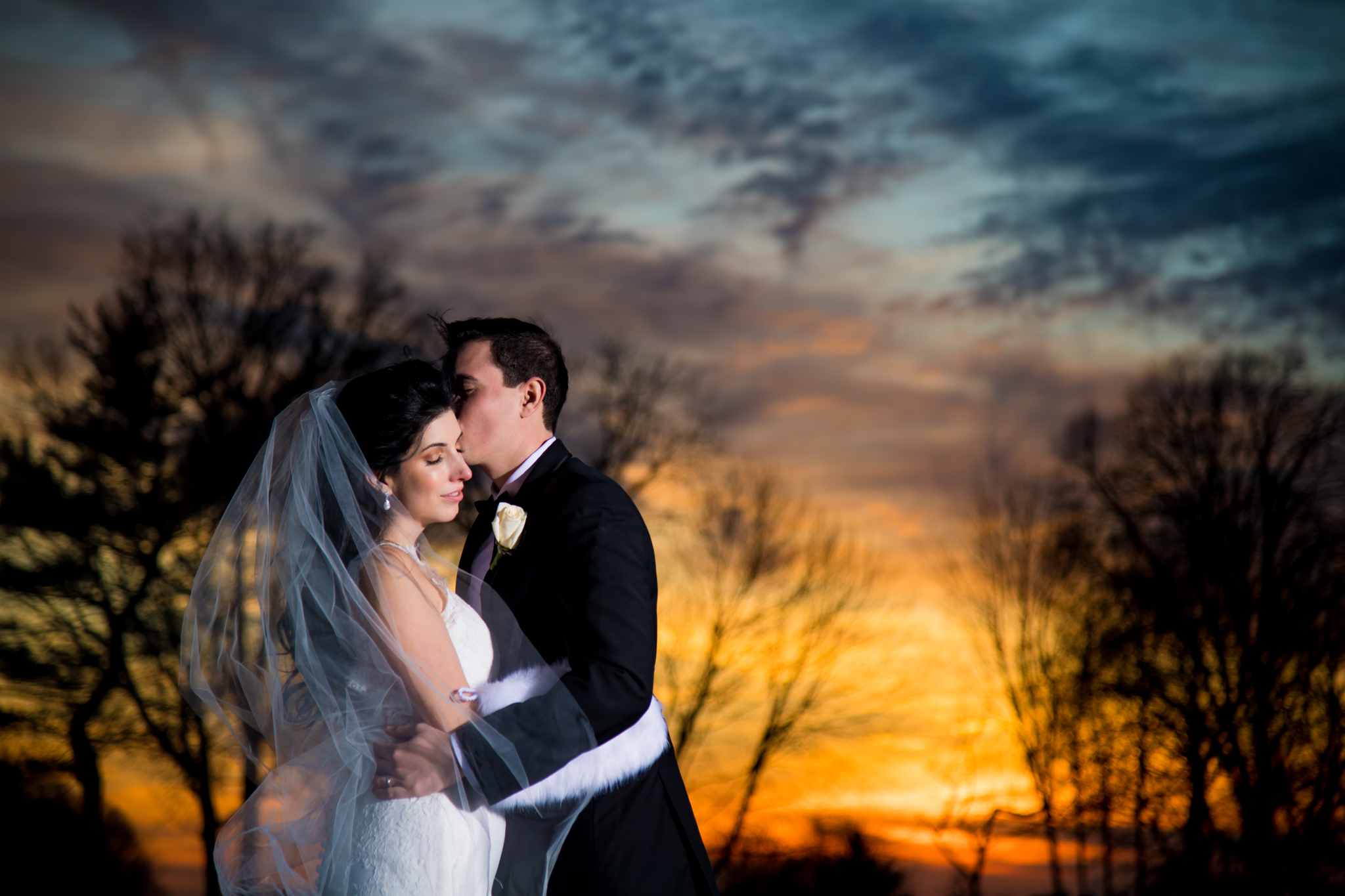 Bride and Groom relax during sunset at Village Club of Sands Point | Lotus Wedding Photography